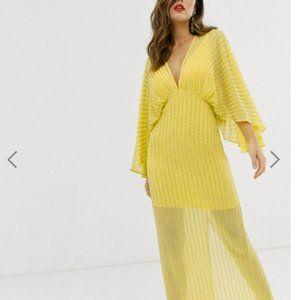 ASOS DESIGN kimono maxi dress in linear sequin ide